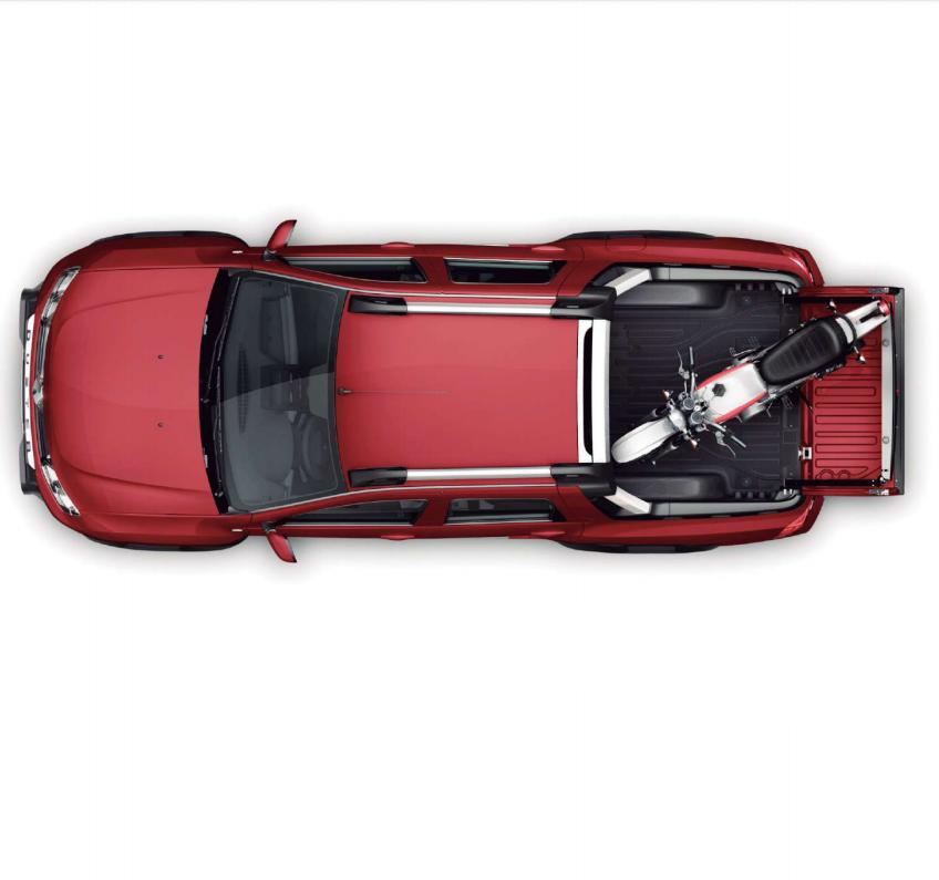 Vista cenital de la Renault Oroch 2019