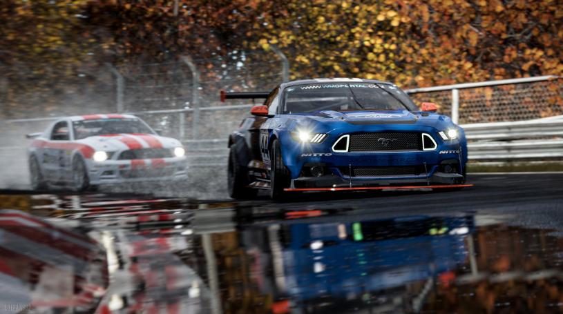 autos de carreras en pista