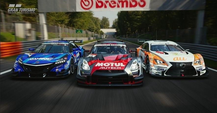 autos de carrera vistos de frente