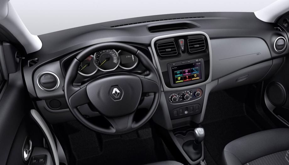 Interior del Renault Logan