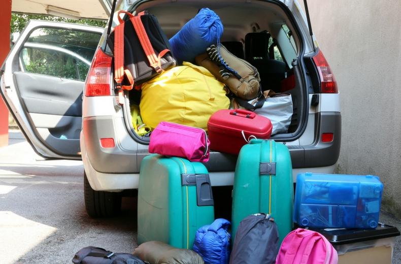Sobrecarga de equipaje camioneta