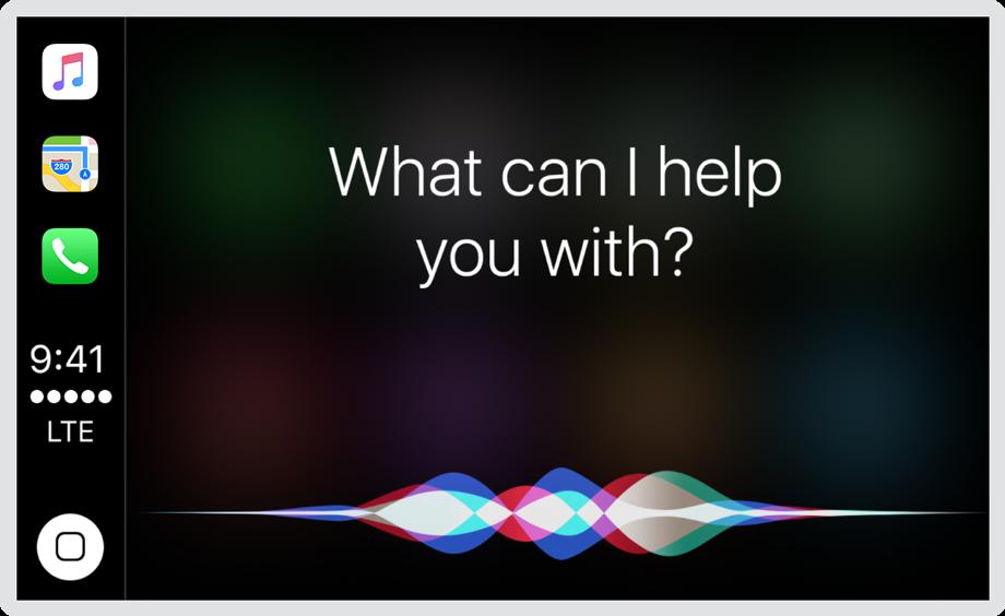 Siri en pantalla
