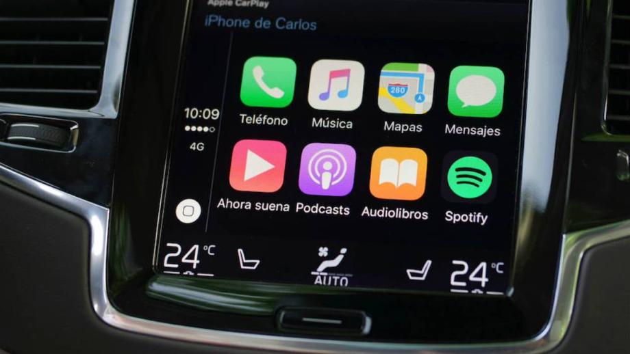 Apple CarPlay en pantalla