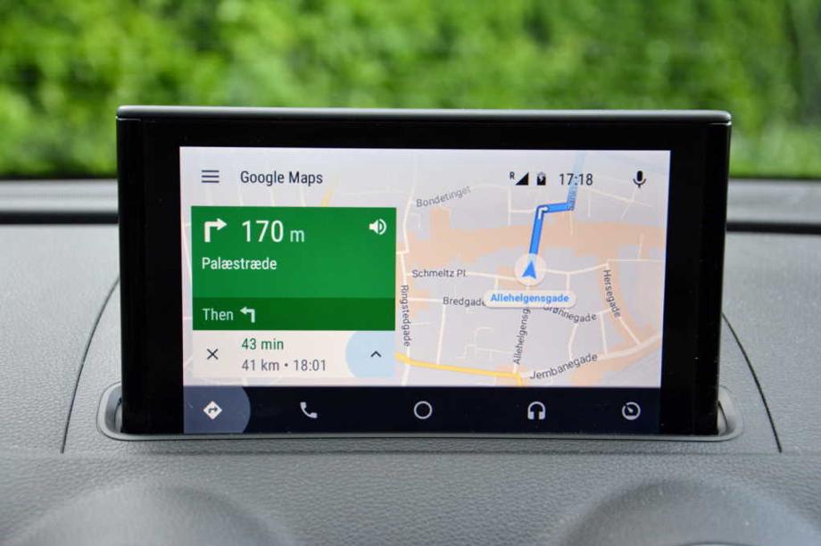 Google Maps en pantalla