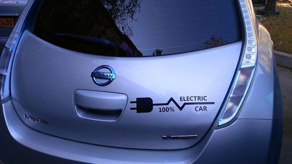 Parte trasera del Nissan Leaf