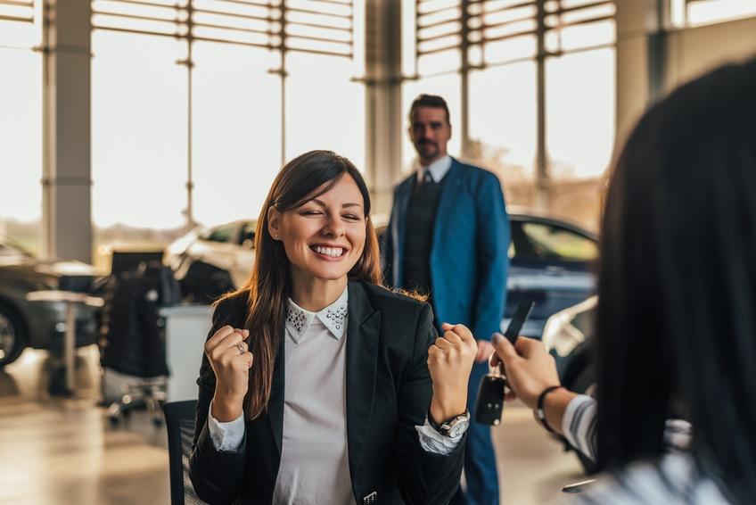 Trato éxito auto venta