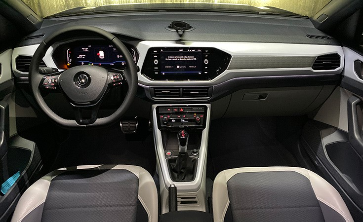 Interior de la Volkswagen T-Cross