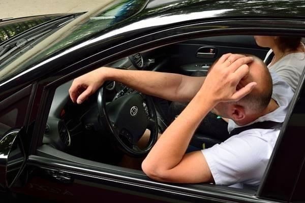 Conduciendo con malestar