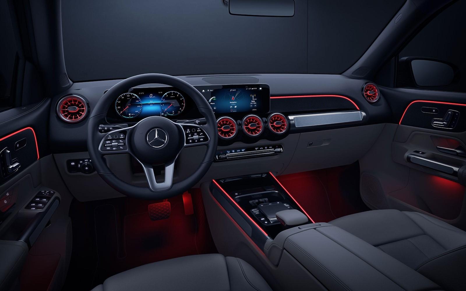 Interior de la Mercedes-Benz GLB