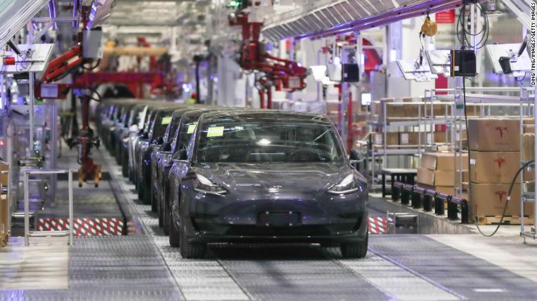 Producción del Model 3 en Gigafactory Shanghai