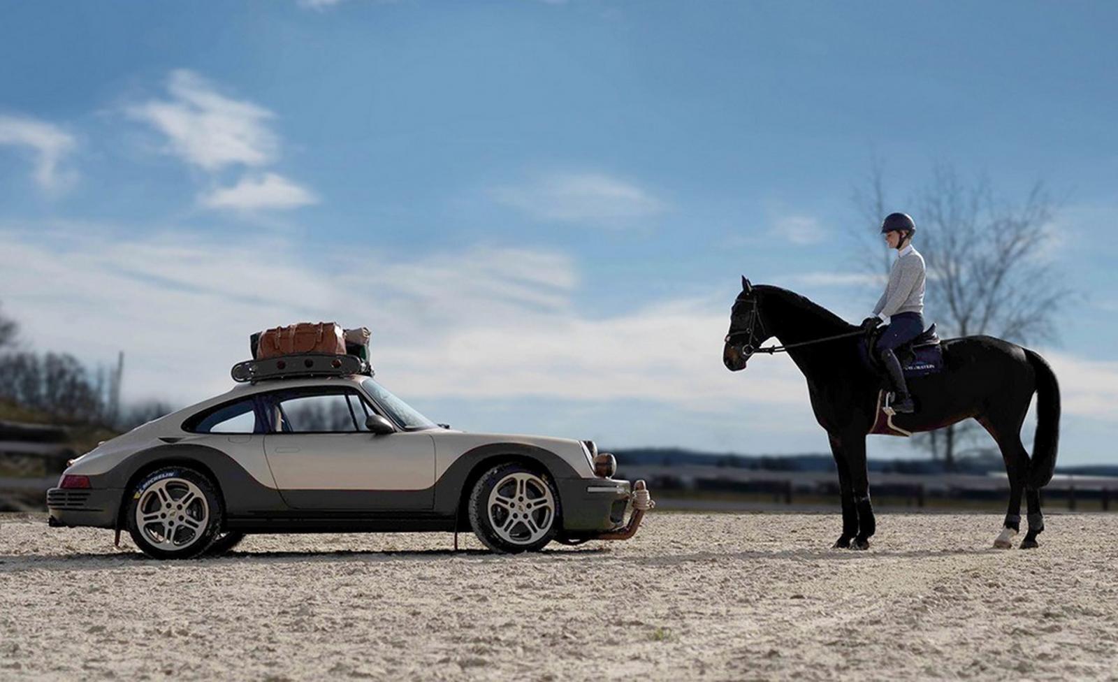 Porsche Safari caballo