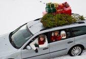 Porque (todos) amamos el tráfico navideño (en el fondo)