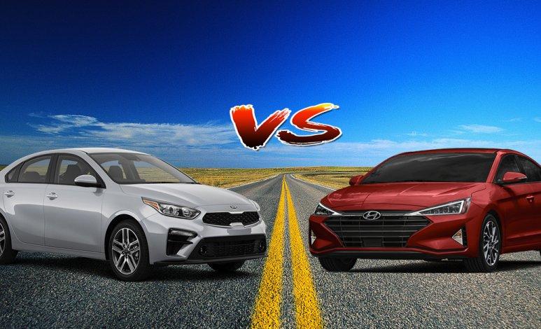 Comparativa: KIA Forte 2019 2.0L EX Premium IVT vs. Hyundai Elantra 2019 Limited Tech Navi