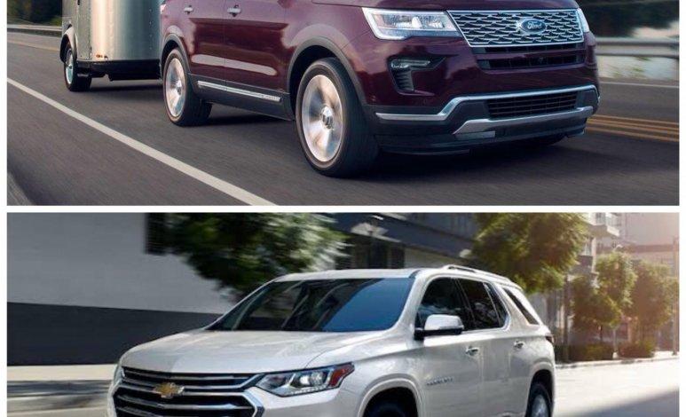Comparativa: Chevrolet Traverse LT 2019 vs Ford Explorer Limited FWD 2019