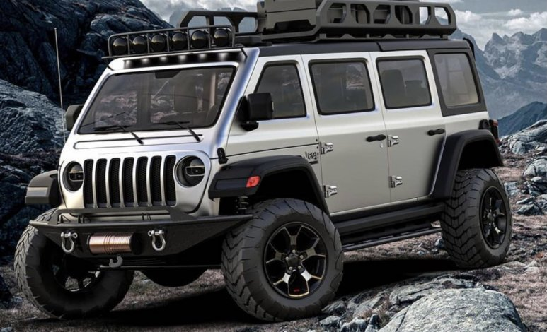 Crean minivan inspirada en una Jeep Wrangler