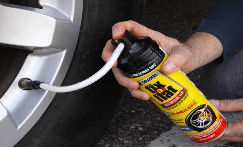 Cómo funciona el aerosol antiponchaduras